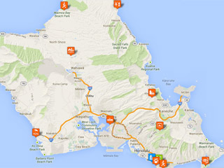 Oahu Tourist Map